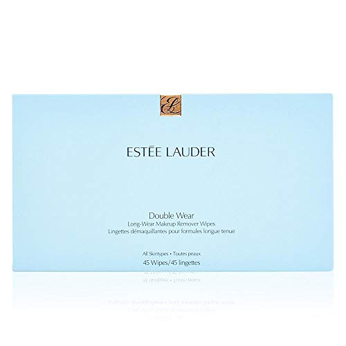 (Estee lauder Double Wear Long-Wear Makeup Remover Wipes, 1 Pack, 45 Wipes)