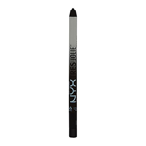 NYX PROFESSIONAL MAKEUP tres jolie gel pencil liner, pitch black, 0.017 ounce
