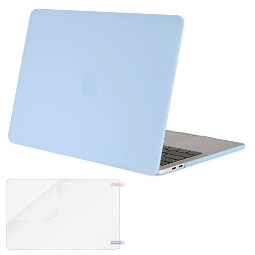 MOSISO MacBook Pro 13 Case 2018 2017 2016 Release A1989/A1706/A1708, Plastic Hard Shell Cover with Screen Protector Compatible Newest MacBook Pro 13 Inch with/Without Touch Bar, Airy Blue