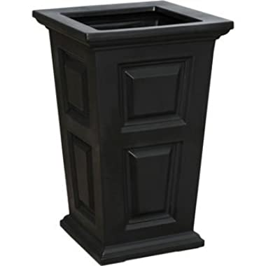 24  Tall Black Planter 2-pack