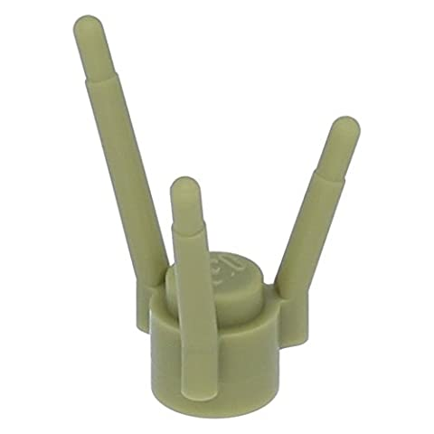 LEGO Parts: Oliv Green Plant Flower Stems - Grass Stems - x10 Loose - Sand Mad Cat