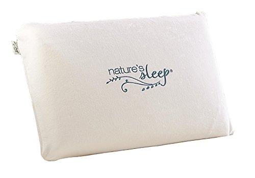 Nature's Sleep Visco Lite Memory Foam Standard Pillow, White (70300) (Visco Foam Pillows)