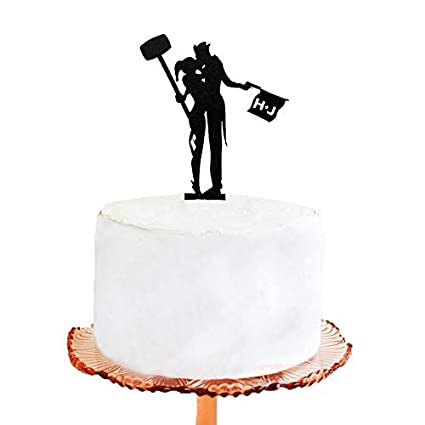 Amazon Com Personalized Wedding Cake Topper Joker And Harley Quinn