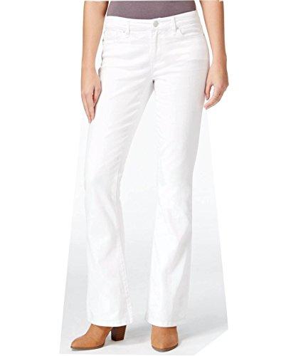 Maison Jules Women's Slim Flared White Wash Jeans (Bright White Wash, (French Flared Jeans)