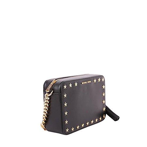 Michael Kors Ginny Md Camera Bag - Bolsos bandolera Mujer Negro (Black)