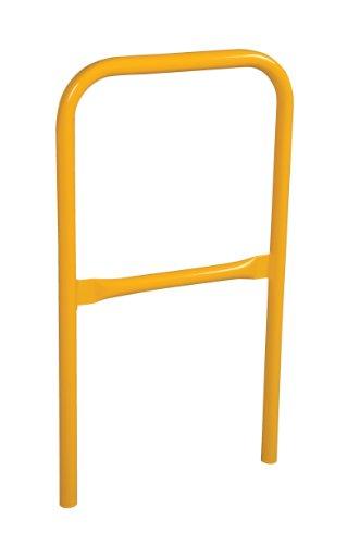 Vestil VDKR-2 Pipe Safety Railing with Powder Coat Yellow Finish, Steel, 24