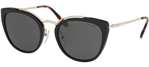 Prada Women's PR 20US Cat Eye Sunglasses, Pale Gold/Black, One -