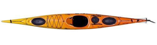 Riot Kayaks Brittany 16.5 Flatwater Touring Kayak with Skeg and Rudder Yellow Orange, 16.5-Feet