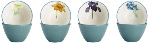 - Noritake Colorwave Floral Bowl, 4-Inch, Turquoise, Set of 4