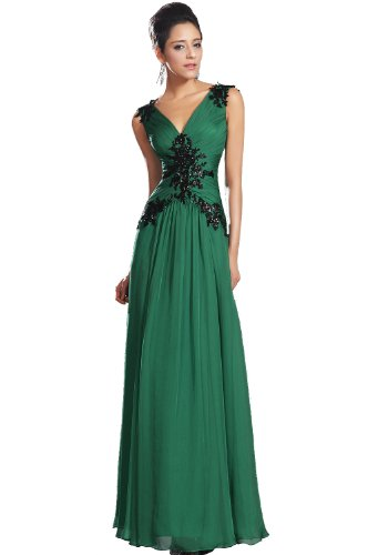 eDressit New Green V-cut Design Prom Dress (00132504)