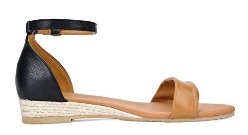 Sandal DREAM camel 10 PAIRS Black Wedge 10 Women's Formosa nZTwqHA