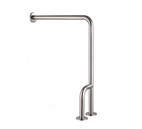 Handrail Section - LXDfs Bathroom Handrail,304 Stainless Steel L-Shaped Handrail, Bathroom Safety Toilet Railing Handle, Old Man Booster Railing Rails (Color : The Left Section)