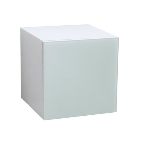 Door Container with White Glass Front for All High Gloss Room Divider with Asymmetric Shelves and Round Edges, Modern Scandinavian Design, White Glossy Lacquered by Phoenix smart living furniture