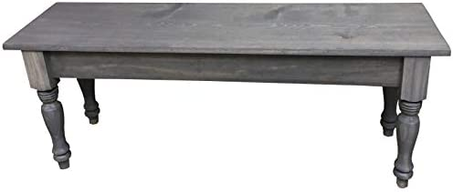 Driftwood Grey English Farmhouse Bench 54