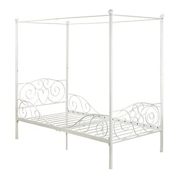 DHP Canopy Bed with Sturdy Metal Frame Twin Size White  sc 1 st  Amazon.com & Amazon.com: DHP Canopy Bed with Sturdy Metal Frame Twin Size ...