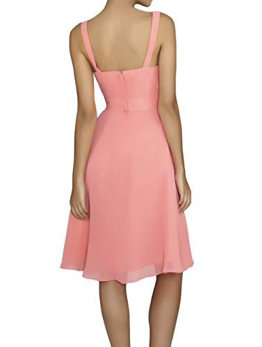 La Elegant Chiffon Partykleider Brautjungfernkleider Festlichkleider Abendkleider mia A Knielang Linie Braut Promkleider Lilac r1EWrqI