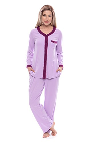 7e015bcffb Women s Long Sleeve Pajama Set - Button Up Sleepwear by Texere (Eco  Nirvana