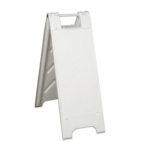 """Plasticade 155-HLGEG-W Minicade Barricade/Sign Stands, 12"""" x 24"""" Engineer Grade Legends, White"""