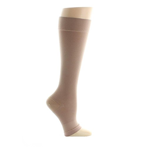 7d73c9738cb Amazon.com  VenoMedical USA 20-30 mmHg Beige Below Knee Open Toe Size   Small  Clothing