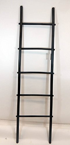 Master Garden Products 6'H Bamboo Ladder Rack, Black (Bamboo Ladder)
