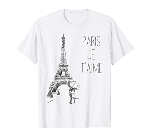 Paris Je T'aime (I Love You) T Shirt, Hand Drawn Sketch
