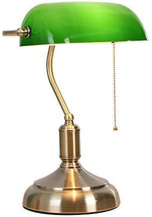 YWY Retro Bankers lámpara de Mesa, cabecera Verde lámpara Vintage ...
