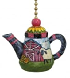 Clementine Design 206 Lamb Teapot Ceiling Fan Pull
