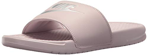 Nike Women's Benassi Just Do It Sandal, Particle Rose/Metallic Silver, 9 Regular US ()