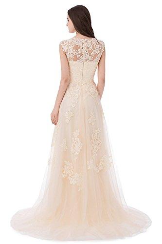 Brautkleider Spitze Eine Weinlese Erosebridal Hochzeitskleid Linie Blau Frauen wPqxfYRF