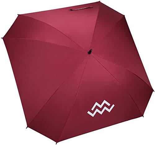 Mio Marino Extra Large Golf Umbrella Windproof - Square Umbrella - UV Protection - Automatic Open 62 Inch - for Men Women (Burgundy)