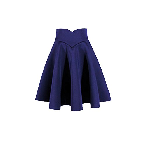 Autumn and winter the new A word skirt high waist skirt(Blue) - 2
