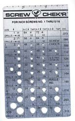 Metric Screw Checker (2mm to 7mm) - Made in USA