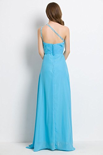 Emily ein parteikleider langes Chiffon Champgane Frauen Abendkleid Schulter Beauty Rhinestone formales TSwqCExTd