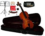 Merano 16.5'' Student Viola with Case and Bow+Extra Set of Strings, Extra Bridge, Shoulder Rest, Rosin, Metro Tuner, Black Music Stand, Mute