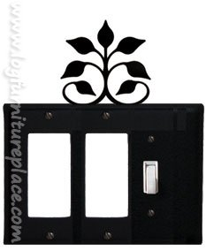 EGGS-109 Leaf Fan Double GFI & Switch Electric Cover