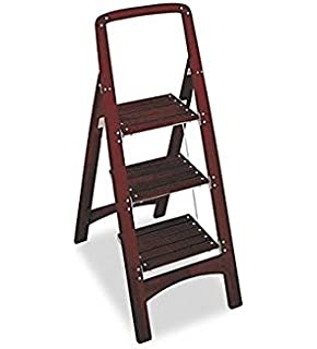 cosco three step rockford wood step stool mahogany - Step Stool