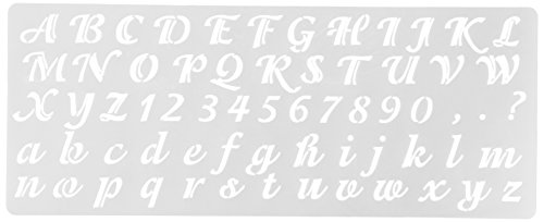 Price comparison product image Delta Creative Stencil, 5.25 by 13-Inch, 956170012 Calligraphy Alphabet