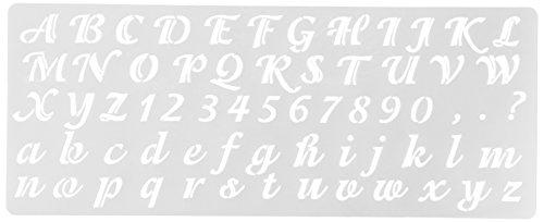 (Delta Creative Stencil, 5.25 by 13-Inch, 956170012 Calligraphy Alphabet)