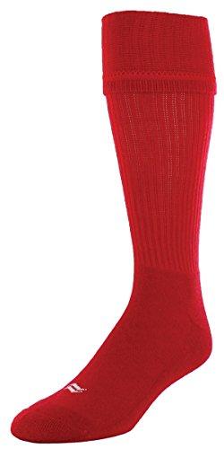 Red Soccer Football (Sof Sole Midfielder Soccer Team Athletic Performance Socks, Red, Mens Medium 5-9.5, 2-Pack)