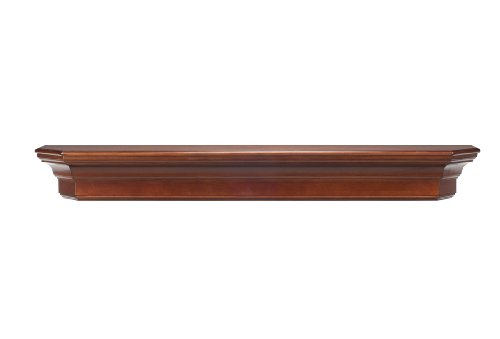 Pearl Mantels 490-60-70 Lindon Wood 60-Inch Wall Shelf, Distressed Cherry - Mantel Pearl