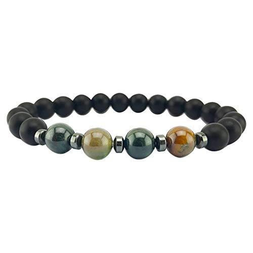 Lazinem Fashion Stones Round Beads Stretch Bracelet Adjustable Bracelets Gifts Charms & Charm Bracelets