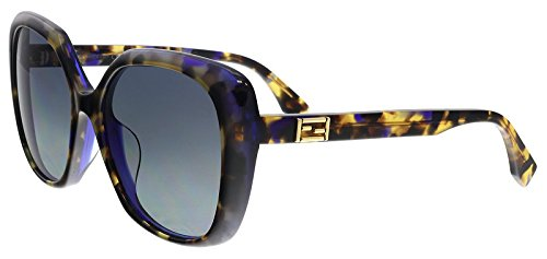 Fendi Sunglasses - FF0107/F/S/Frame: Blue Tortoise Lens: Grey-FF0107FSD53