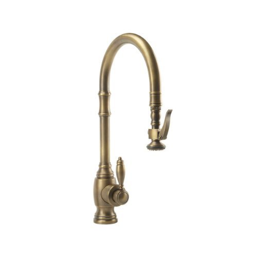 Waterstone 5600-SN Annapolis Kitchen Faucet Single Handle with Pull Out Spray, Satin Nickel by Waterstone