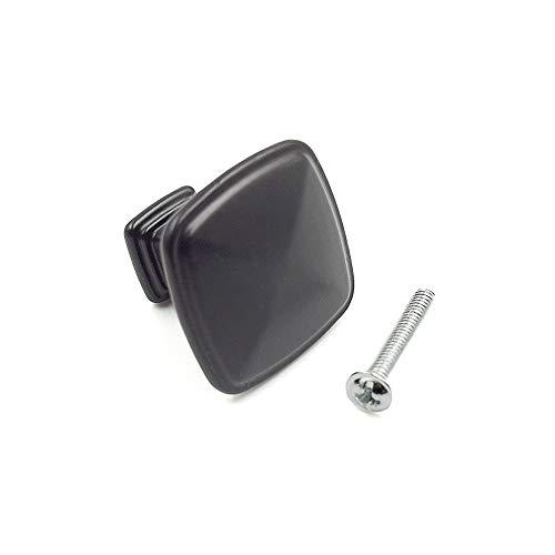 - LICTOP FLAT BLACK 1.25'' Square Cabinet Knob(25Pcs)