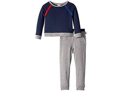 Splendid Boys' Toddler Slub Terry Raglan Sleeve Set, True Navy, - Terry Splendid Sweatshirt