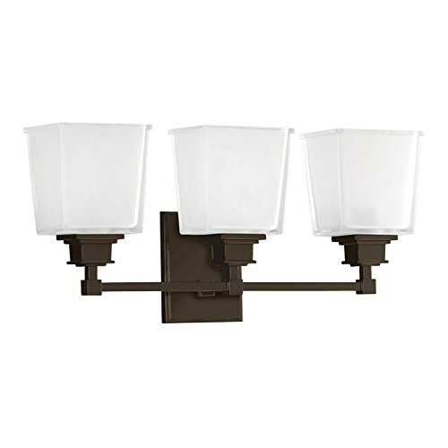 (Hudson Valley 1953-OB, Berwick Reversible Blown Glass Wall Vanity Lighting, 3 Light, Bronze)