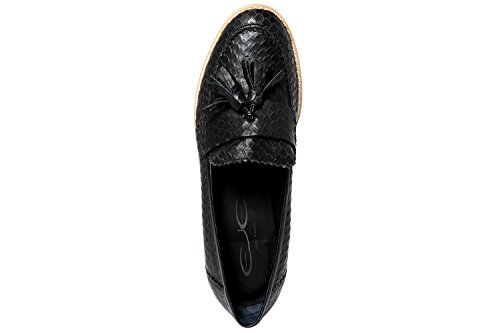 Pelle In cobra nero 2110749 Donna Eje Mocassini RtqzE1nw