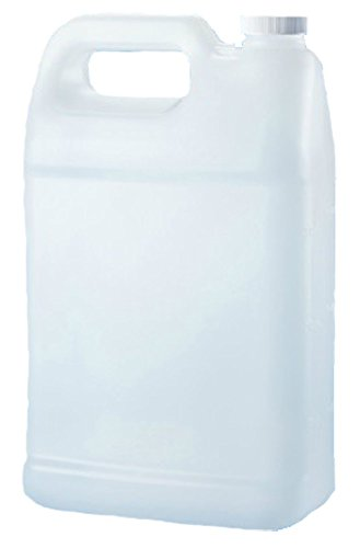 Verdana Plastic Jug - 1 Gallon - Rectangular Flat - HDPE Material - Natural (Translucent) Color - Compact 3.9 inch thickness (Chemical Container compare prices)
