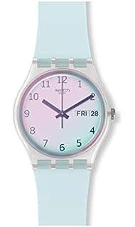 Quarz Armband Mit Swatch Uhr Analog Silikon Suow165 Damen JcFl1KT