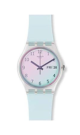 Swatch Reloj Analógico para Mujer de Cuarzo con Correa en Silicona GE713: Amazon.es: Relojes